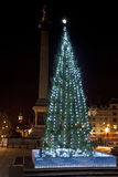 Christmas Tree in London's Trafalgar Square Stock Images
