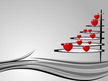 Christmas tree in love Stock Photography