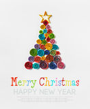Christmas tree made of paper Royalty Free Stock Photos