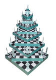 Christmas tree made ​​of chess Royalty Free Stock Photo