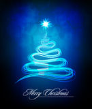 Christmas Tree made of Abstract Brush Lines Royalty Free Stock Photography