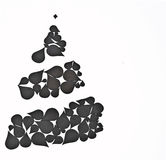 Christmas tree made from abstract elements Royalty Free Stock Images
