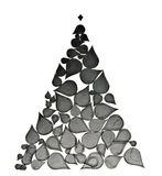 Christmas tree made from abstract elements Royalty Free Stock Image
