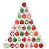 Christmas tree made of balls Stock Photography