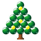 Christmas tree made with balls Stock Images