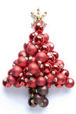 Christmas Tree Made From Baubles Royalty Free Stock Image