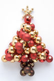 Christmas Tree Made From Baubles Royalty Free Stock Photography