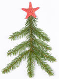 Christmas tree made of branches Stock Photos