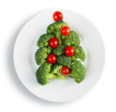 Christmas tree made from broccoli Stock Photography