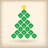 Christmas tree made of buttons Stock Photography
