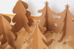 Christmas Tree Made Of Cardboard. New Year Stock Photography