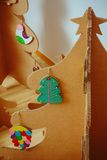 Christmas Tree Made Of Cardboard. New Year Royalty Free Stock Photo