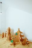Christmas Tree Made Of Cardboard. New Year Royalty Free Stock Image