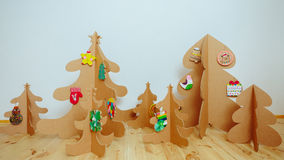 Christmas Tree Made Of Cardboard. New Year Royalty Free Stock Images