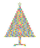 Christmas tree made of chocolate candies Royalty Free Stock Photography