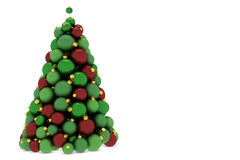 Christmas tree made of christmas tree balls Stock Photos