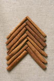 Christmas tree made of cinnamon sticks Stock Image