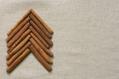 Christmas tree made of cinnamon sticks Stock Images