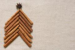 Christmas tree made of cinnamon sticks Stock Photography
