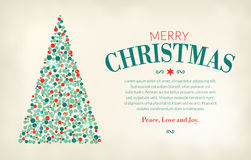 Christmas tree made from circles, classic vintage look Stock Photo