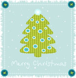 Christmas tree made of cloth Royalty Free Stock Photography