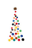 Christmas tree made with colored buttons Royalty Free Stock Images