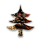 Christmas tree made of colorful pine cones Stock Images