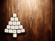 Christmas tree made of computer keys,tree background with vignette Royalty Free Stock Photos