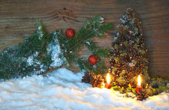 Christmas tree made of cones with fir branches Stock Images