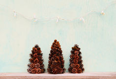 Christmas tree made of cones Stock Image