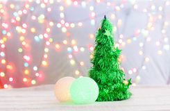 Christmas tree made of crystal Stock Photography
