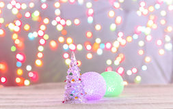 Christmas tree made of crystal Royalty Free Stock Images