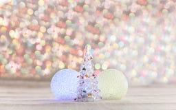 Christmas tree made of crystal Royalty Free Stock Photo