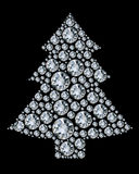 Christmas tree made from diamonds. Stock Photography