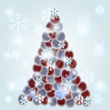 Christmas tree made of dots Royalty Free Stock Photo