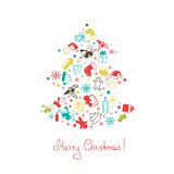 Christmas tree made of elements Royalty Free Stock Photography
