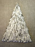 Christmas tree made feom newspaper Royalty Free Stock Photo