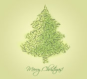 Christmas tree made of fir branches Stock Photography