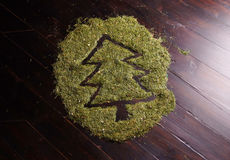 Christmas tree made of fir needles Royalty Free Stock Photos
