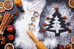 Christmas tree made from flour Stock Image