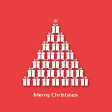 Christmas tree made of gift boxes Royalty Free Stock Images