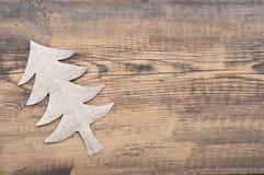Christmas tree made of gray cardboard Stock Photo