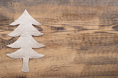 Christmas tree made of gray cardboard Stock Photos