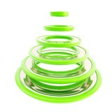 Christmas tree made of green futuristic rings Stock Images