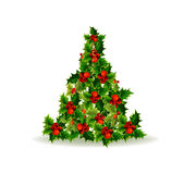 Christmas tree made of hollies Stock Image