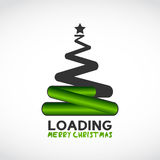 Christmas tree made from loading symbol. Abstract background stock illustration