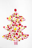 Christmas tree made from lollies and candy Stock Photography