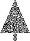 Christmas Tree made of Mandalas Royalty Free Stock Photography