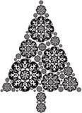 Christmas Tree made of Mandalas.  Royalty Free Stock Photography