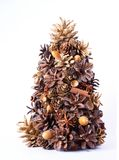 Christmas tree made from natural elements stock image